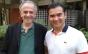 Jamil Maluf conversa com o maestro Marcos Arakaki