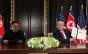 Donald Trump e Kim Jong-un assinam declaração conjunta em Singapura