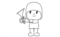 Pocoyo para colorir