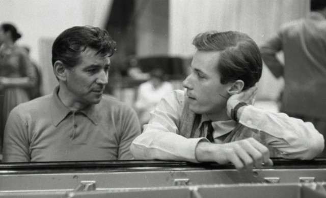 Leonard Bernstein e Glenn Gould (imagem: Don Hunstein, 1957)