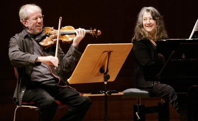 Gidon Kremer e Martha Argerich (imagem: Klaus Rudolph)